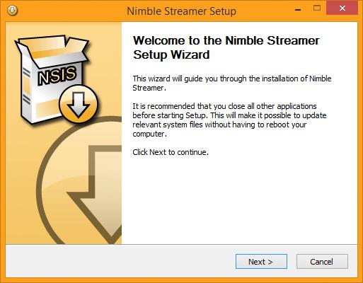 Installing Nimble Streamer - WMSPanel